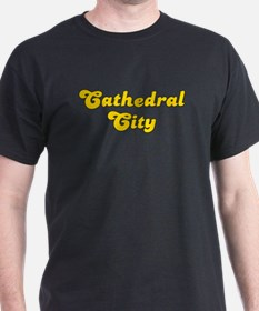 Retro Cathedral City (Gold) T-Shirt