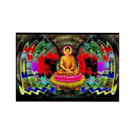"""Buddha Swirl"" - Rectangle Magnet"