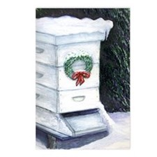 Merry Christmas Bee Hive Postcards (Package of 8)