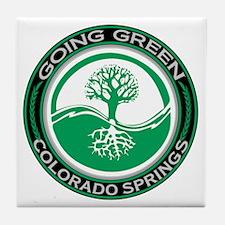Going Green Colorado Springs Tree Tile Coaster