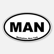 Manhattan, New York Oval Decal