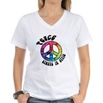 Peace Always in Style Women's V-Neck T-Shirt