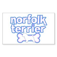 Powderpuff Norfolk Terrier Rectangle Decal