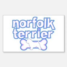 Powderpuff Norfolk Terrier Rectangle Decal
