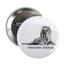 Yorkshire Terrier Yorkie Dog Breed Button