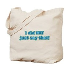 Did Not - Blue Tote Bag