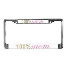 100% Mom 100 Percent License Plate Frame