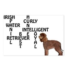 Irish water spaniel crossword Postcards (Package o