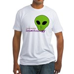 Alien Scientology Fitted T-Shirt