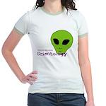 Alien Scientology Jr. Ringer T-Shirt