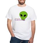 Alien Scientology White T-Shirt