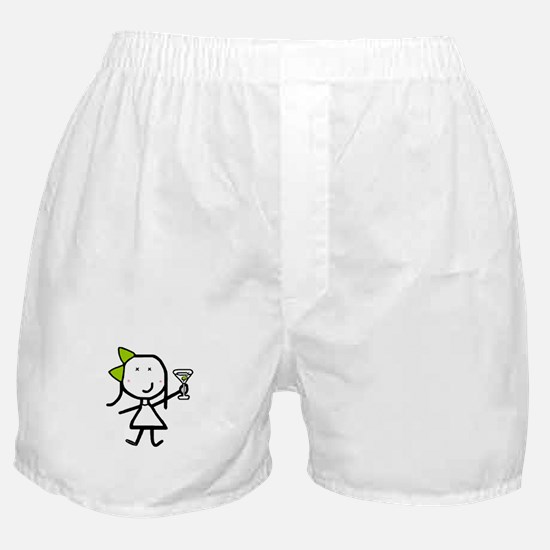 Girl & Martini Boxer Shorts
