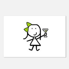 Girl & Martini Postcards (Package of 8)