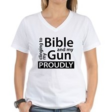 Clinging to my Bible & my Gun Shirt