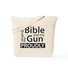 Clinging to my Bible & my Gun Tote Bag