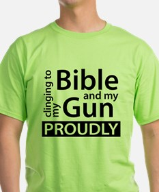 Clinging to my Bible & my Gun T-Shirt