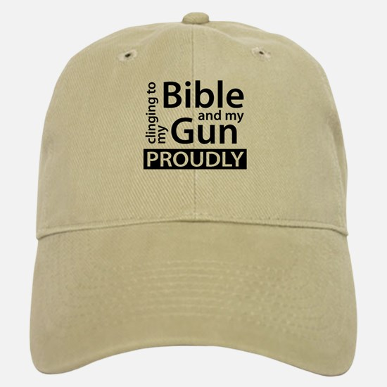 Clinging to my Bible & my Gun Baseball Baseball Cap