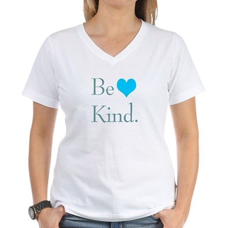 """""""Be Kind"""" with a heart. Women's V-Neck T"""