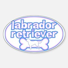 Powderpuff Lab Oval Decal