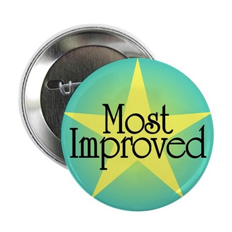 """Most Improved 2.25"""" Button (10 pack)"""