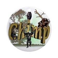 Chimps Ornament (Round)