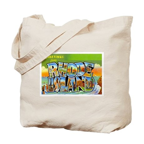 RHODE ISLAND RI Tote Bag