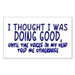 Voices In My Head Rectangle Sticker 10 pk)