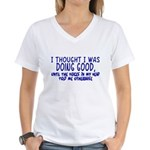 Voices In My Head Women's V-Neck T-Shirt