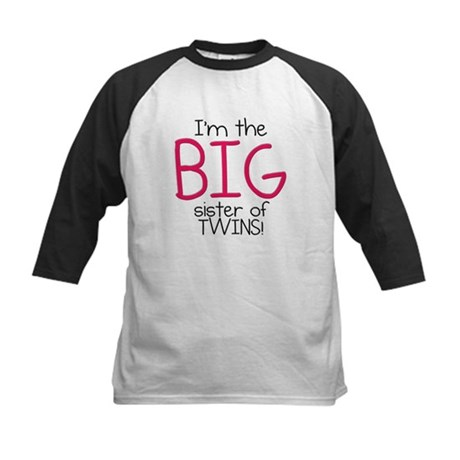 Big Sister (Twins) Kids Baseball Jersey