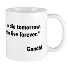 Gandhi Live and Learn Quote Mug