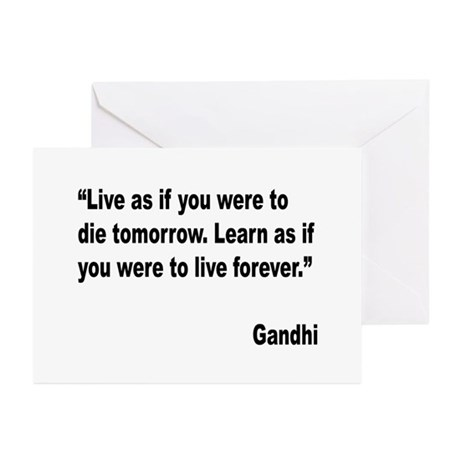 Gandhi Live and Learn Quote Greeting Cards (Pk of
