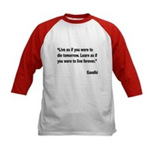 Gandhi Live and Learn Quote (Front) Tee