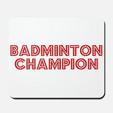 Retro Badminton C.. (Red) Mousepad