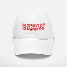 Retro Badminton C.. (Red) Baseball Baseball Cap