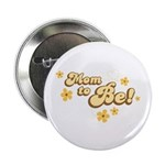 """Retro Mom To Be Yellow 2.25"""" Button"""