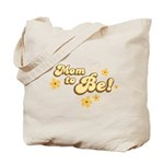 Retro Mom To Be Yellow Tote Bag