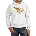 Retro Mom To Be Yellow Hooded Sweatshirt