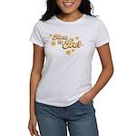 Retro Mom To Be Yellow Women's T-Shirt