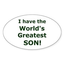 """""""World's Greatest Son"""" Oval Decal"""