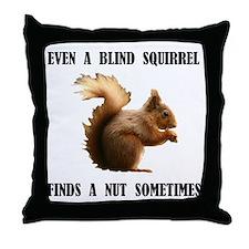 BLIND SQUIRREL Throw Pillow