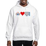 Eye Heart Computers Hooded Sweatshirt