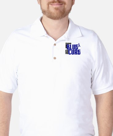 I Wear Blue For The Cure 6 Golf Shirt