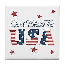 God Bless The U.S.A. Tile Coaster