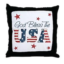 God Bless The U.S.A. Throw Pillow