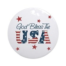 God Bless The U.S.A. Ornament (Round)