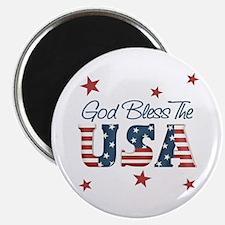 "God Bless The U.S.A. 2.25"" Magnet (100 pack)"