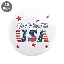 """God Bless The U.S.A. 3.5"""" Button (10 pack)"""