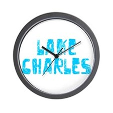 Lake Charles Faded (Blue) Wall Clock