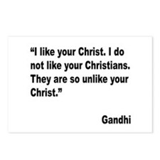 Gandhi Christ and Christians Quote Postcards (Pack