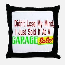 Garage Sale Throw Pillow